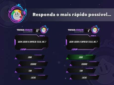 Dashboard do Trivia Crack na Twitch